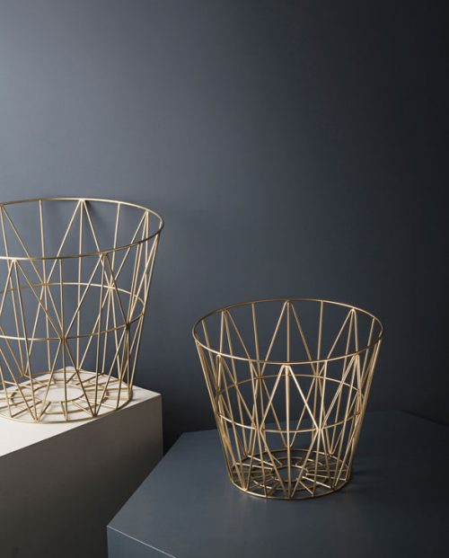 ferm living wirebasket brass 02