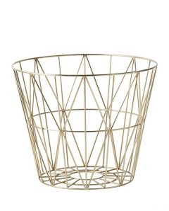 ferm living wirebasket brass small