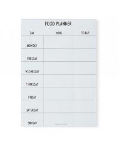 Design Letters foodplanner white