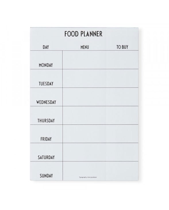 Design Letters foodplanner white