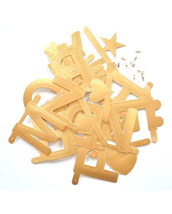 Omm Design Wordbanner gold