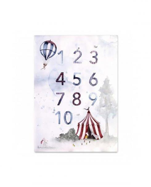 Leo la Douce Art Print 086 Numbers Poster