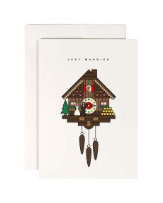 red fries klappkarte 0058 cuckoo clock