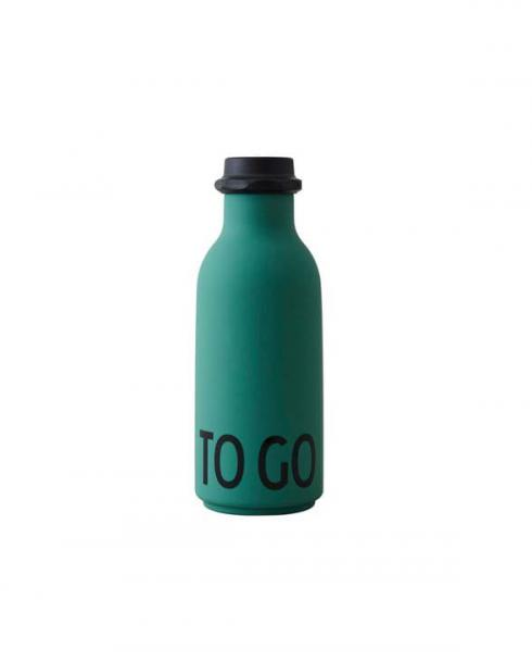 DesignLetters waterbottle to go dark green 01