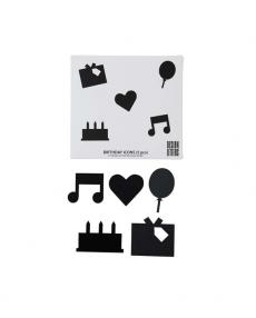 Design Letters organise icon set birthday 20203112BLACK