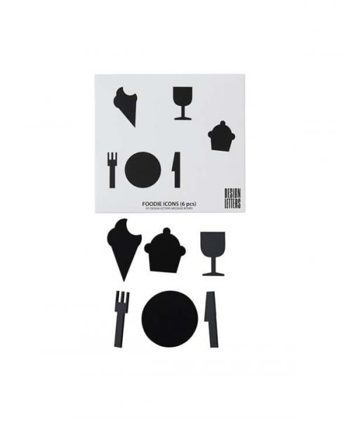 Design Letters organise icon set foodie 20203111BLACK