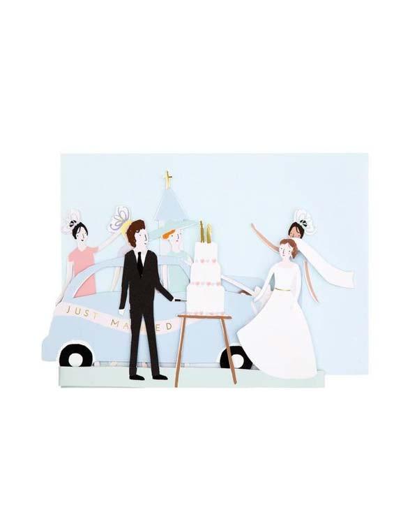MeriMeri Karte just married 01
