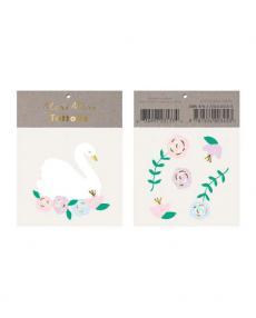 MeriMeri Tattoos Floral Swan