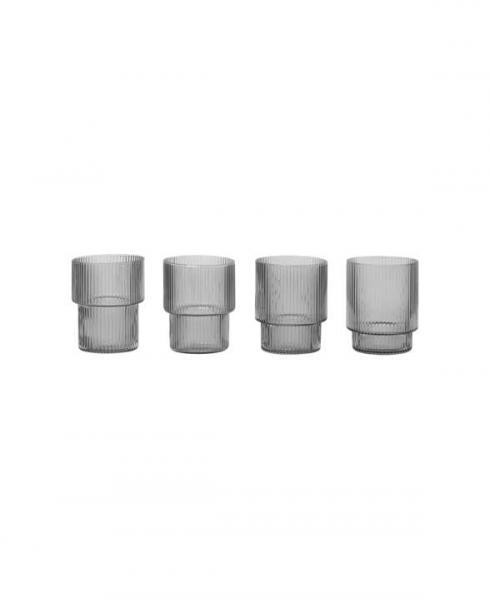 ferm Living Ripple grey glasses 100127112