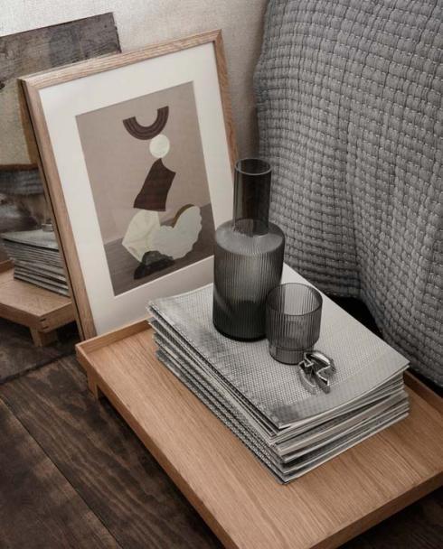 ferm Living Ripple grey small carafe set 100124112 03