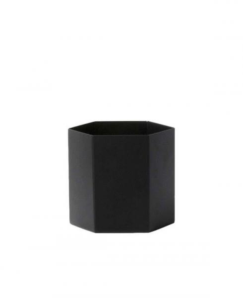 ferm Living hexagon pot black l 4178 01