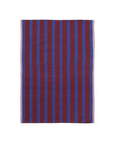 ferm living hale tea towel brown navy 001 100089 654