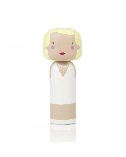 Sketch inc Lucie Kaas Kokeshi Doll Marilyn si01ma