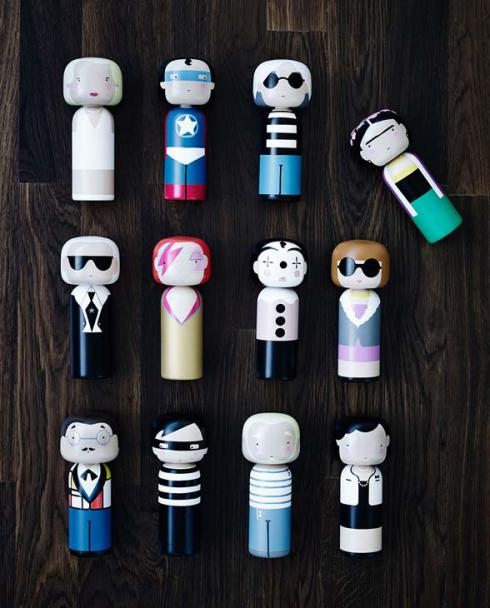 Sketch inc Lucie Kaas Kokeshi Dolls 04