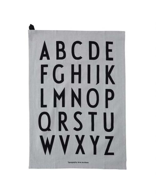 Design Letters Geschirrtuch A Z Classic 2erSet 10503000GREY 01