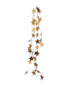 House Doctor Girlande Stars Metall gold bw0230 01