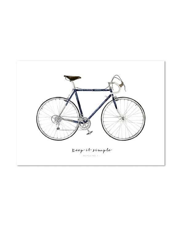 Leo la Douce Art Print bicycle no1