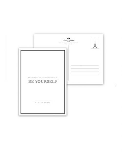 Leo la Douce Postkarte 031 Be yourself