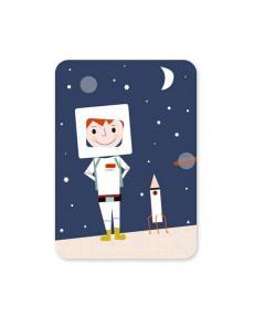 Life is delicious Postkarte Astronaut