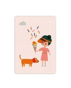 Life is delicious Postkarte Eisgirl