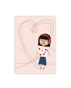 Life is delicious Postkarte Rollschuh