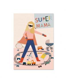 Life is delicious Postkarte Supermama