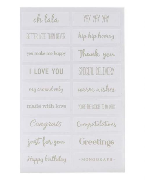 Monograph Sticker quotes silber mgac031