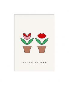 Redfries Postkarte 0117 hungry plant 1