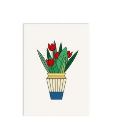 Redfries Postkarte 0120 tulips 1