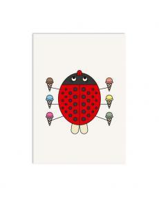 Redfries Postkarte 0173 ladybug 1