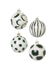 ferm LIVING Weihnachtskugeln gruen 100602640 1
