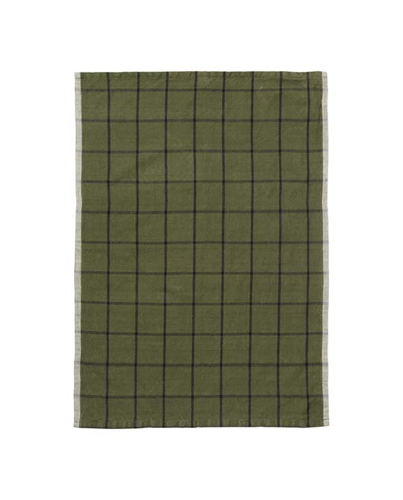 ferm living hale tea towel green 100089 655