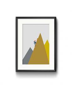 Roadtyping art print bergsteiger