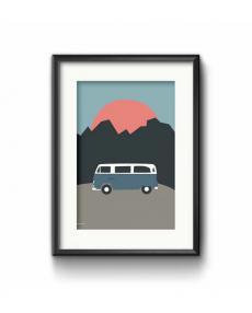 Roadtyping art print bulli