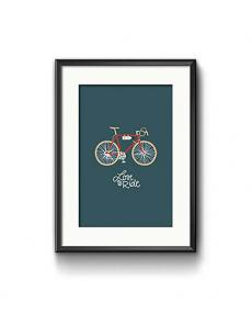 Roadtyping art print love to ride