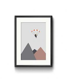 Roadtyping art print paraglider