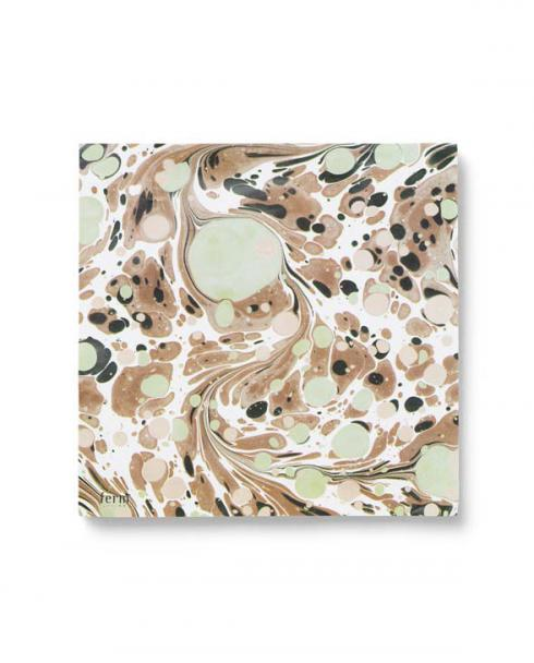 ferm living Marbling Paper Napkins Rust 01