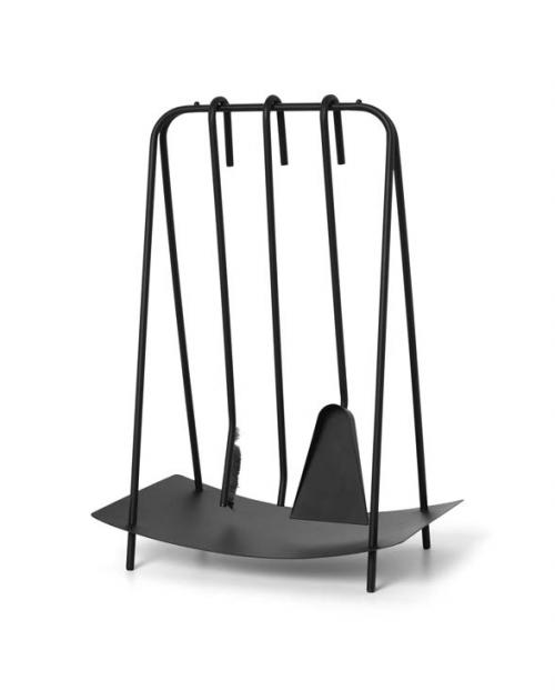 ferm living Port Fireplace Tools black 100567101 01