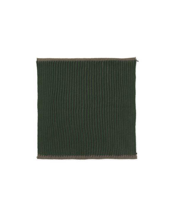 ferm living Twofold Organic Cloth 2pcs Dark Green 100513408