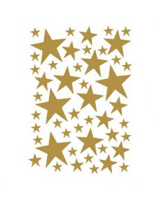 ferm living mini wallsticker stars brass 2082 91 01