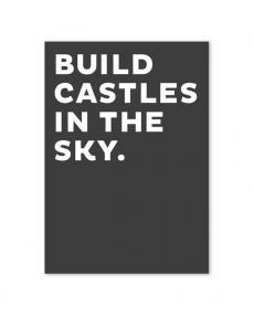 fox poet postkarte schwarz build castles