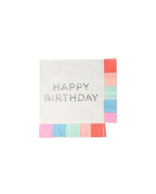 Meri Meri Papierservietten Birthday fringe