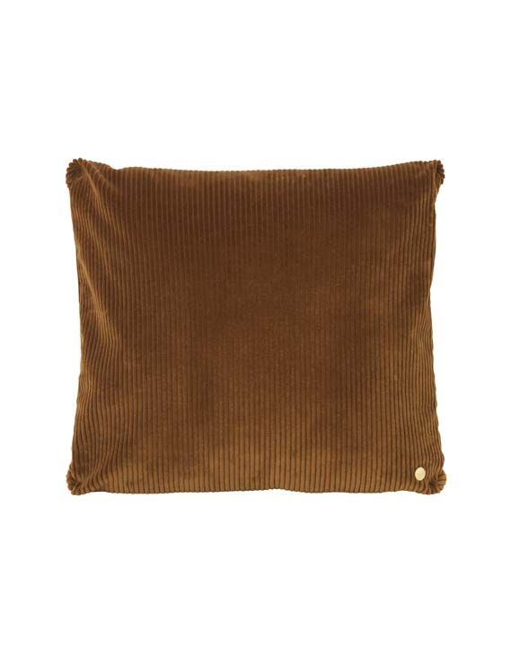 ferm Living Corduroy cushion gold olive