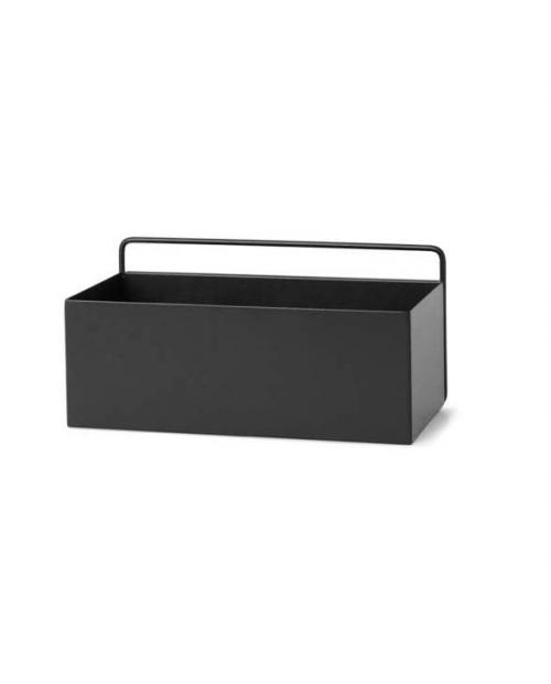 ferm living wallbox rect black 01