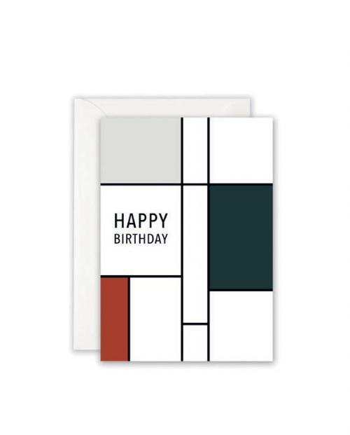 Leo la Douce Karte Birthday grau