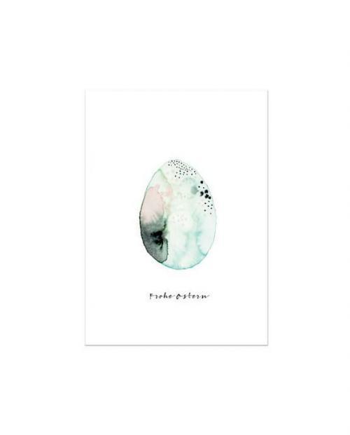 Leo la Douce Karte Frohe Ostern Aquarell