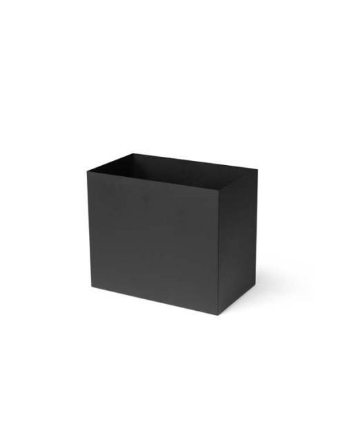 ferm Living plant box pot L black 01