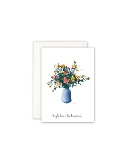Leo La Douce Karte GK 085 blue vase