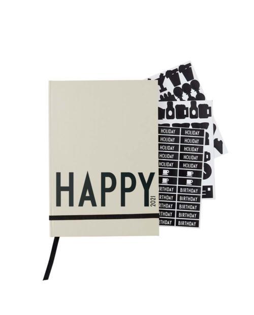 Design Letters Taschenkalender 2021 Happy grau 70201016COOLGRAY 1