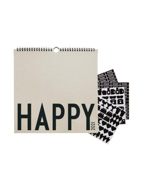 Design Letters Wandkalender 2021 Happy grau 70201017COOLGRAY 1